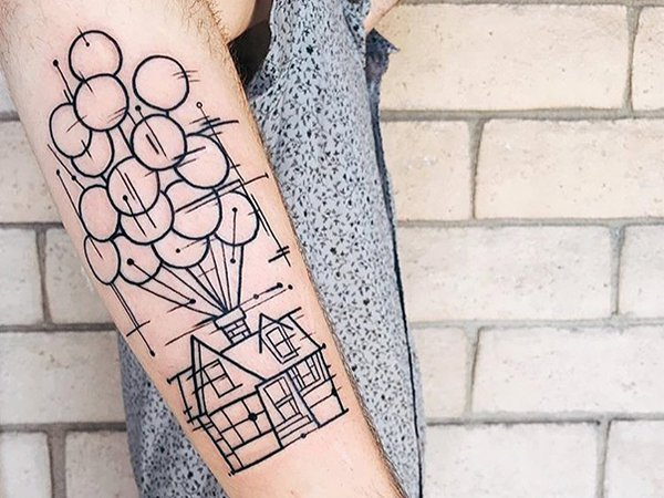 Up House Tattoo