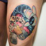Wall-E & Eve Tattoo