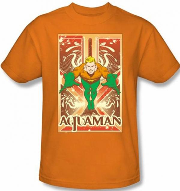Aquaman Orange T-Shirt