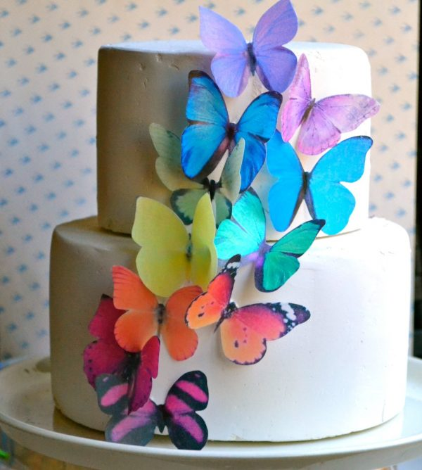 Edible Butterflies Cake & Cupcake Toppers