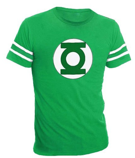 Green Lantern striped sleeves shirt