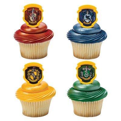 Harry Potter Hogwarts Houses Cupcake Rings