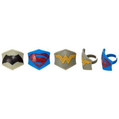 Justice League Cupcake Rings