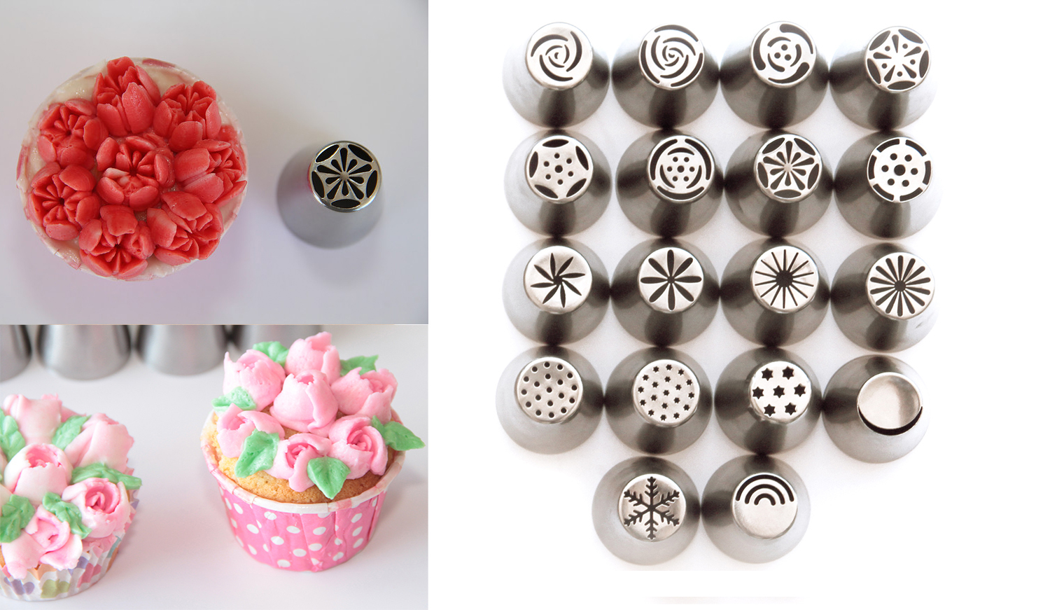 2016 best gadgets to decorate cake and cupcakes russian flower piping tips crownbake