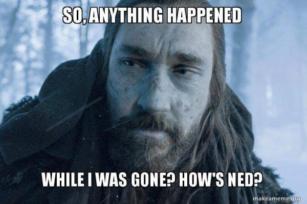 Benjen Has some catching up to do