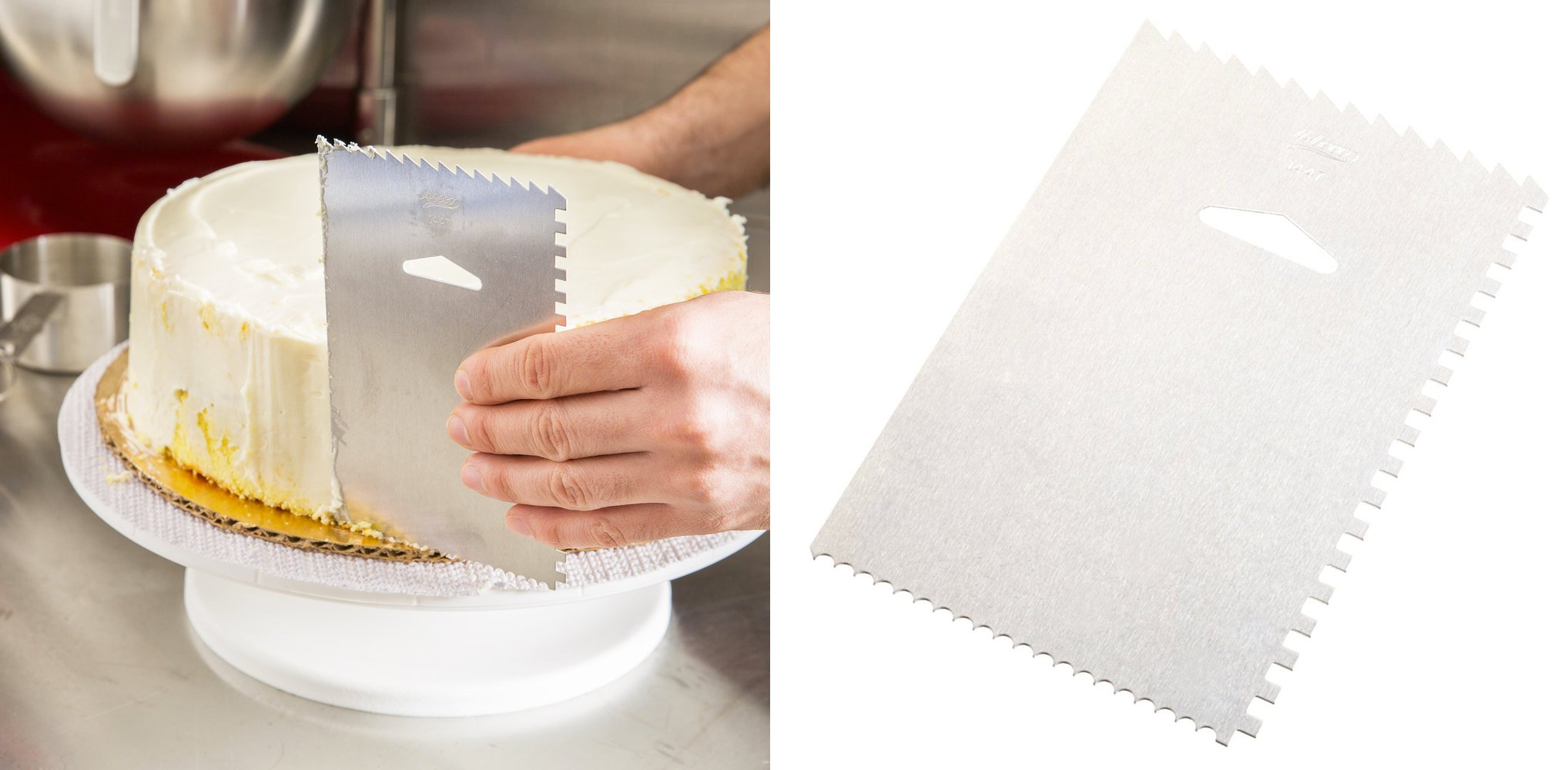 Best Baking Gadgets Decorate Cakes Cupcakes Decorating Comb and Icing Smoother