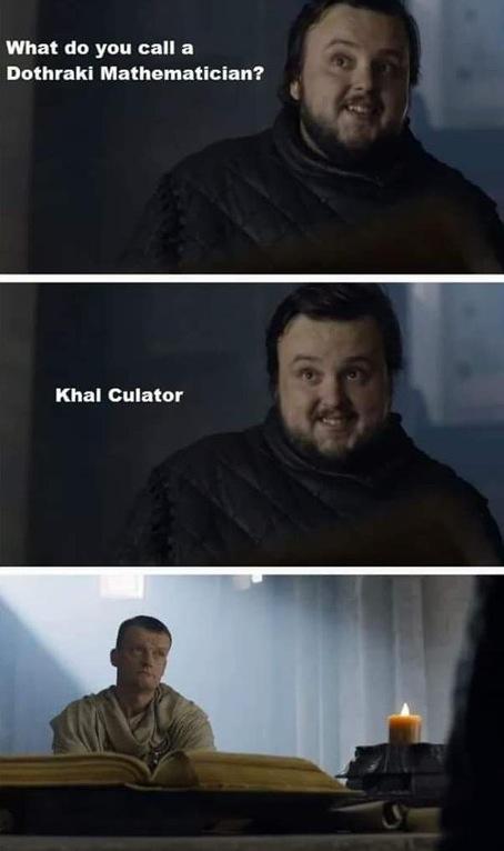 Dothraki math joke