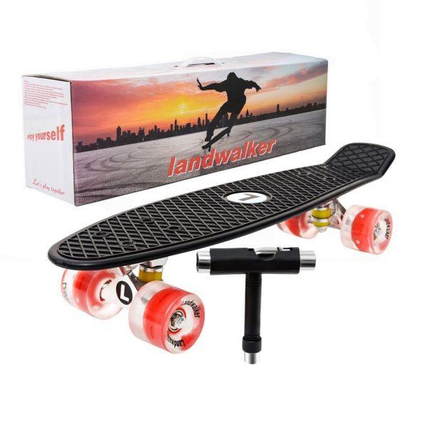 Landwalker Skateboard w LED Light Up Wheels