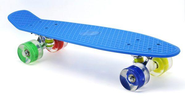 Merkapa Penny Style Skateboard With Glowing Deck & LED Light Wheels