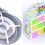 best gadget for baking Cupcake and cake Checkerboard Cake Pan Set