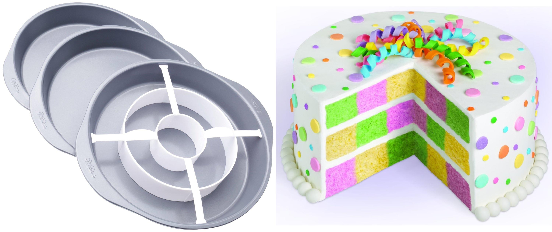 best gadget for baking Cupcake and cake Checkerboard Cake Pan Set