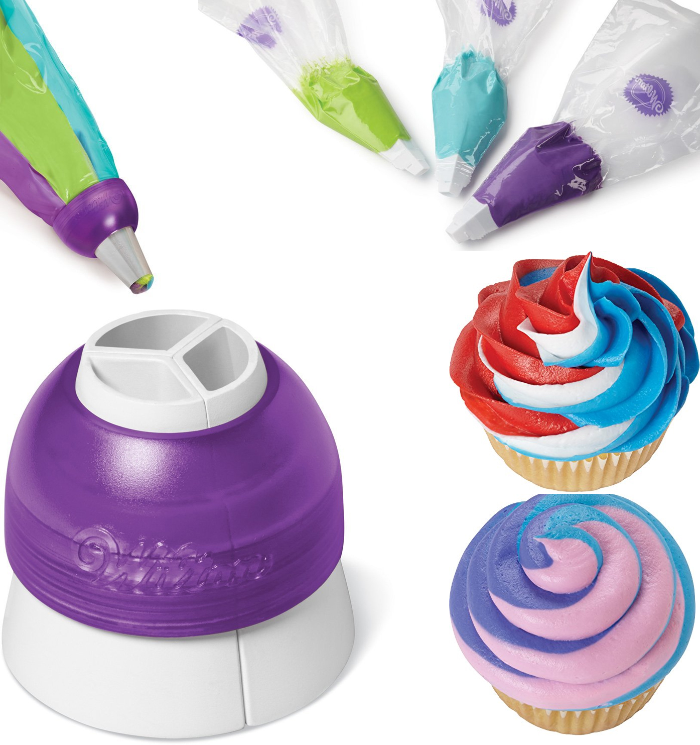 best gadget for baking decorating Cupcake Wilton 3-Color Coupler