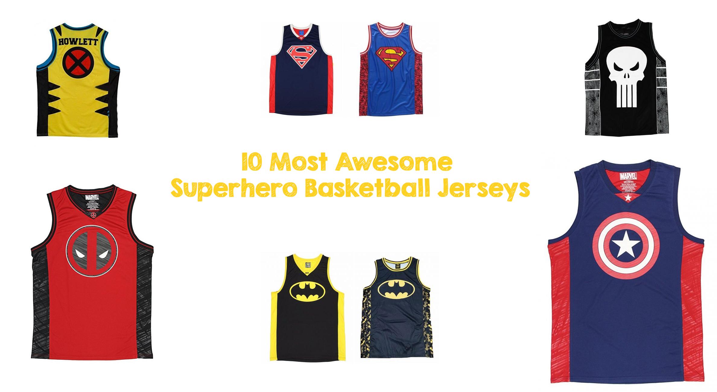 10 Most Awesome Superhero Basketball Jerseys