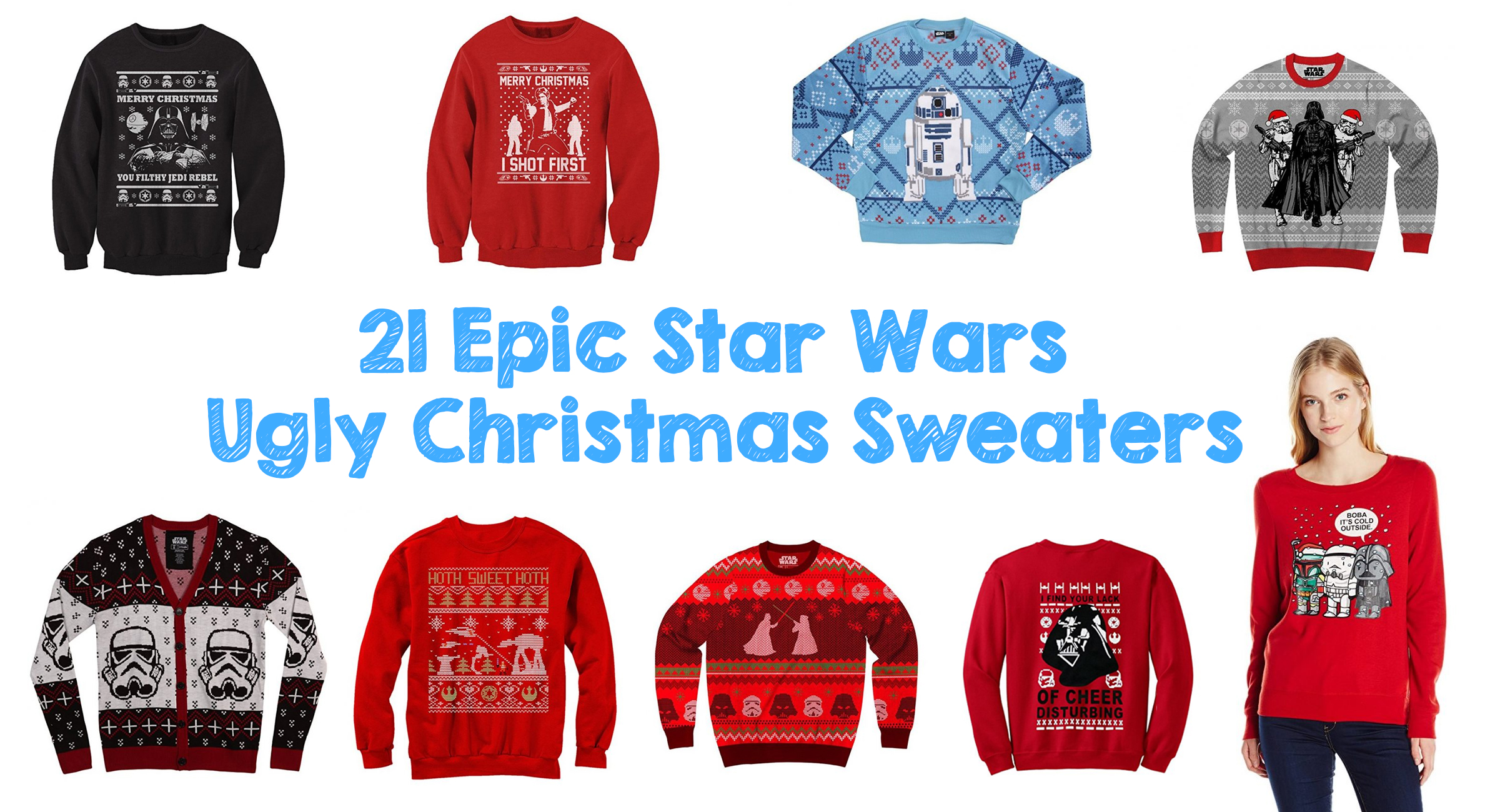 star wars movie title ugly christmas sweater - Ugly Christmas Sweater Amazon