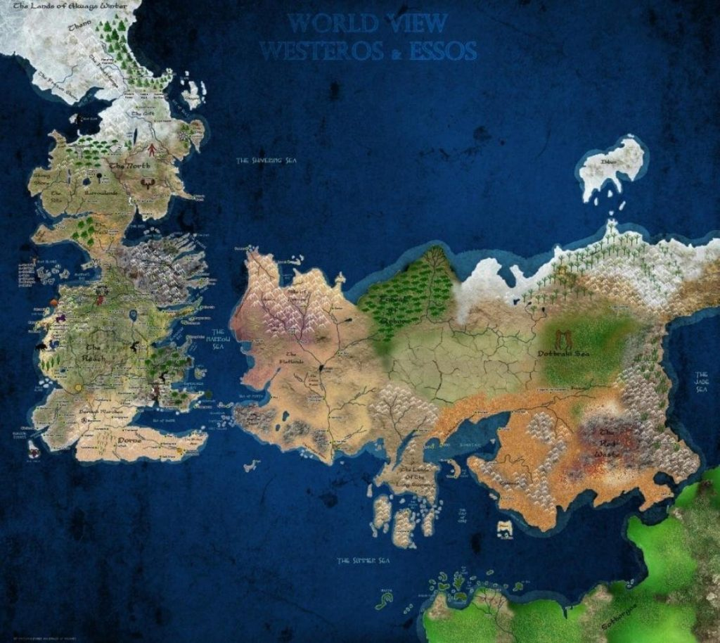 10 most beautiful game of thrones maps to hang on your wall walyou publicscrutiny Images