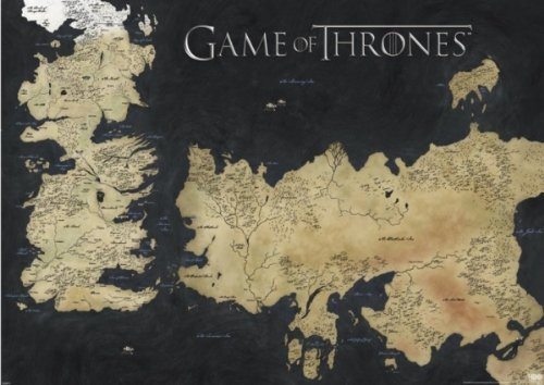 Game of Thrones Giants Map of Westeros & Essos