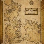 Game of Thrones Map of Westeros & the Free Cities