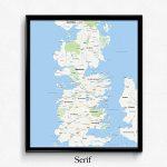 Game of Thrones Minimalistic Map