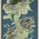 Game of Thrones Topographic Westeros Map
