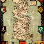 Game of Thrones Westeros Kingdoms Map in Color