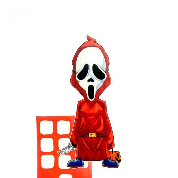 Scream as Shy Guy from Mario