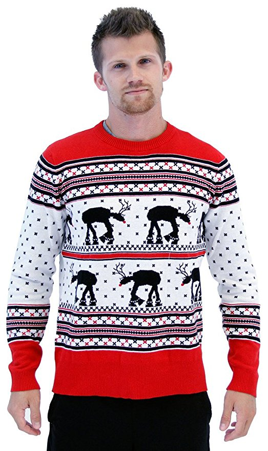 Star Wars AT-ATs as Reindeers Ugly Christmas Sweater