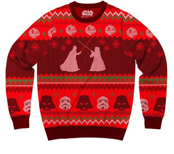 Star Wars Darth Vader vs Obi Wan Lightsaber Duel Ugly Christmas Sweater