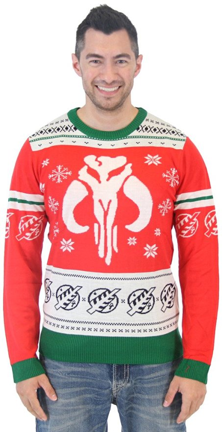 Star Wars Mandalorian Bounty Hunter Ugly Christmas Sweater