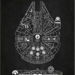 Star Wars Millennium Falcon Chalkboard Poster
