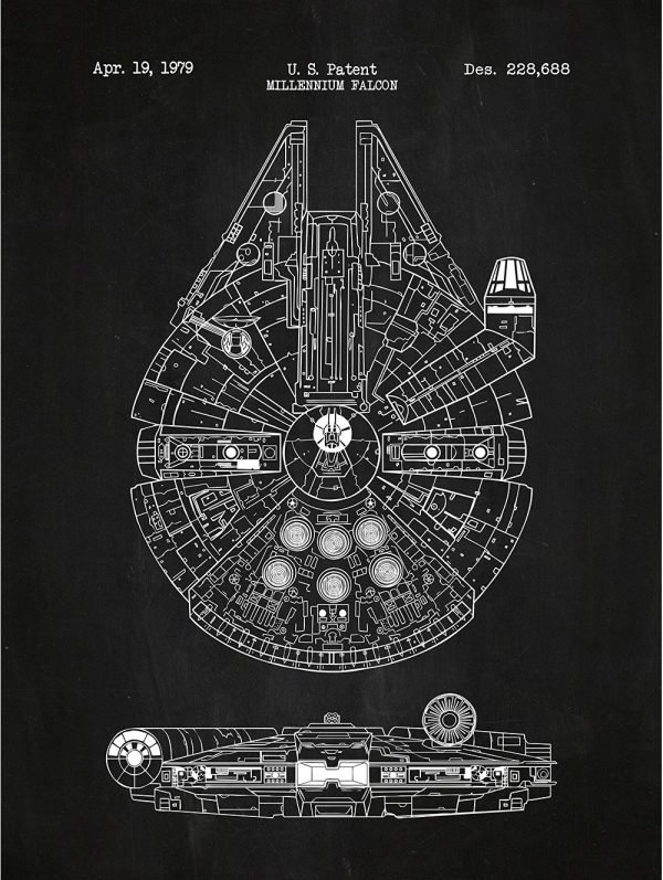 7 Sophisticated Star Wars Posters In Chalkboard Blueprint Style Walyou