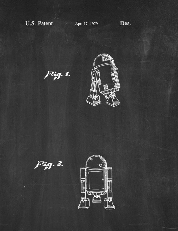 Star Wars R2-D2 Chalkboard Poster