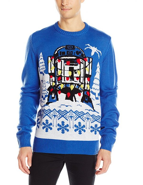Star Wars R2-D2 Tree Lights Ugly Christmas Sweater