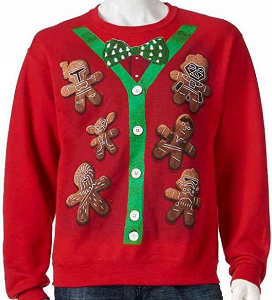 Star Wars cookies cardigan ugly christmas sweater