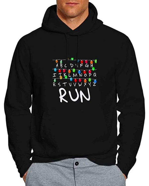Stranger Things Lights Alphabet Run Hoodie