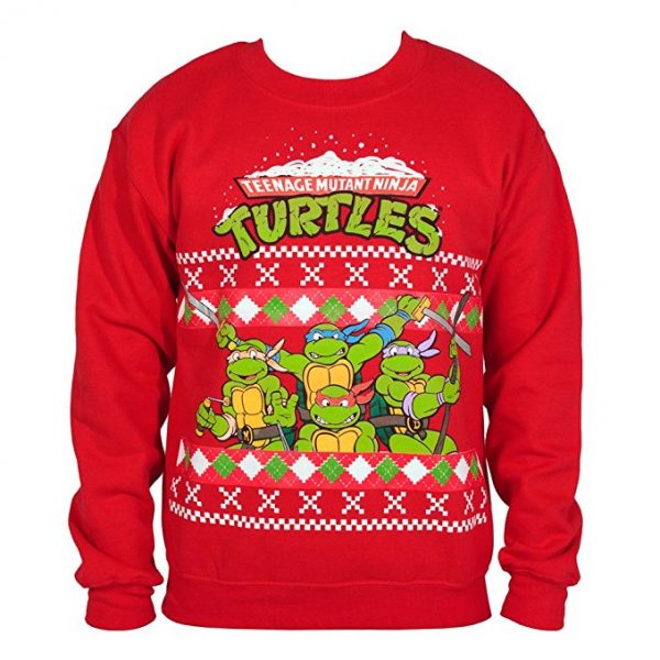 Teenage Mutant Ninja Turtles Ugly Christmas Sweater Red