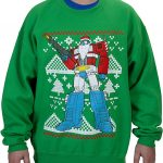 Transformers Optimus Prime Santa Claus Ugly Christmas Sweater
