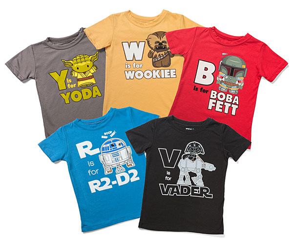 best star wars gift ideas 2016 S is for Star Wars Toddlers' Tees