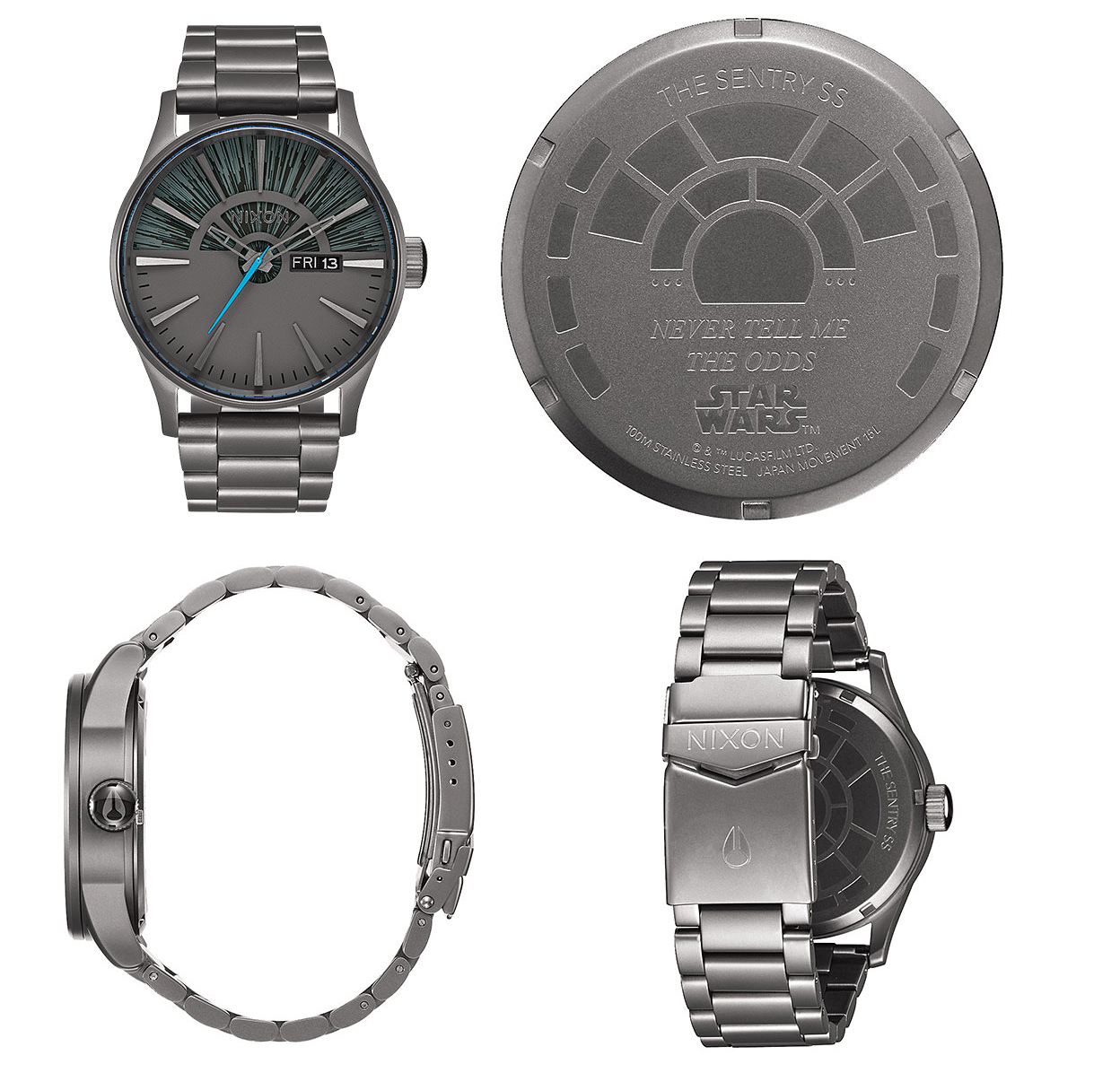 star wars gift 2016 Nixon Sentry SS SW Watch - Millennium Falcon Gunmetal