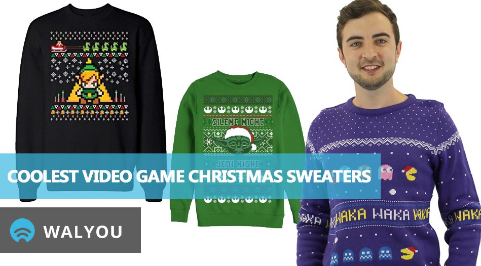 109d30d7 10 Coolest Video Game Ugly Christmas Sweaters - Walyou
