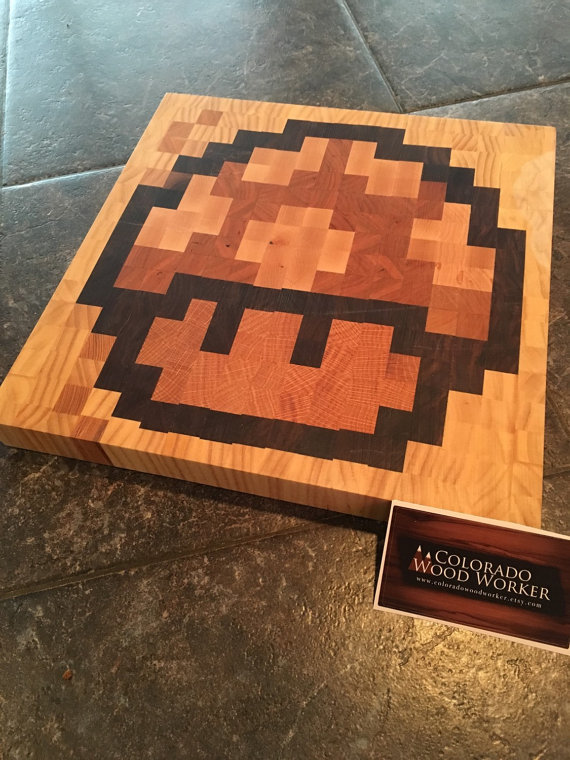 8-bit-mario-mushroom-cutting-board