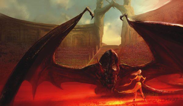 A Dance With Dragons Brazilian Cover (Daenerys & Drogon)