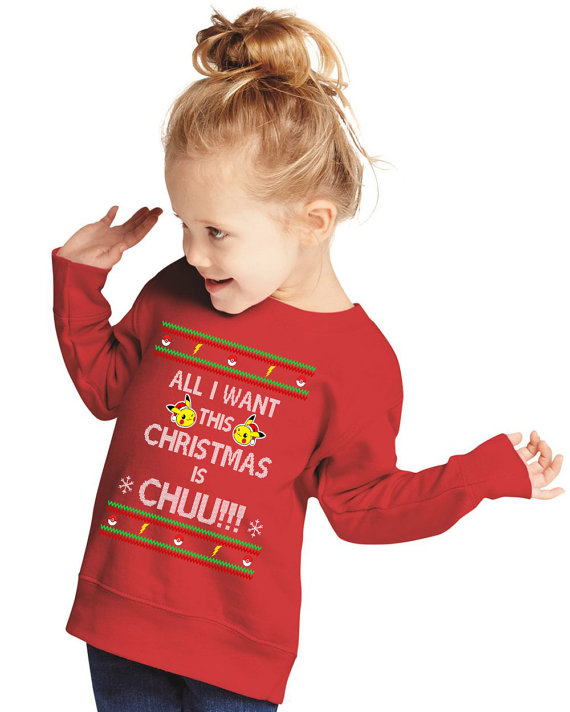 Pokemon 'All I Want This Christmas is Chu' Sweater for Kids