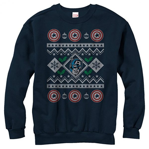 Captain American Ugly Christmas Sweater