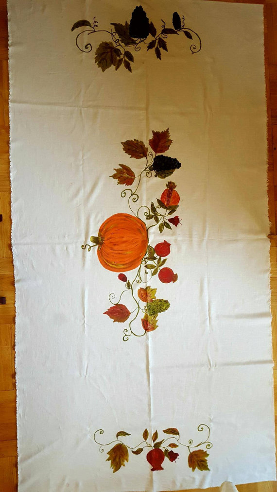 Cute White Thanksgiving Tablecloth