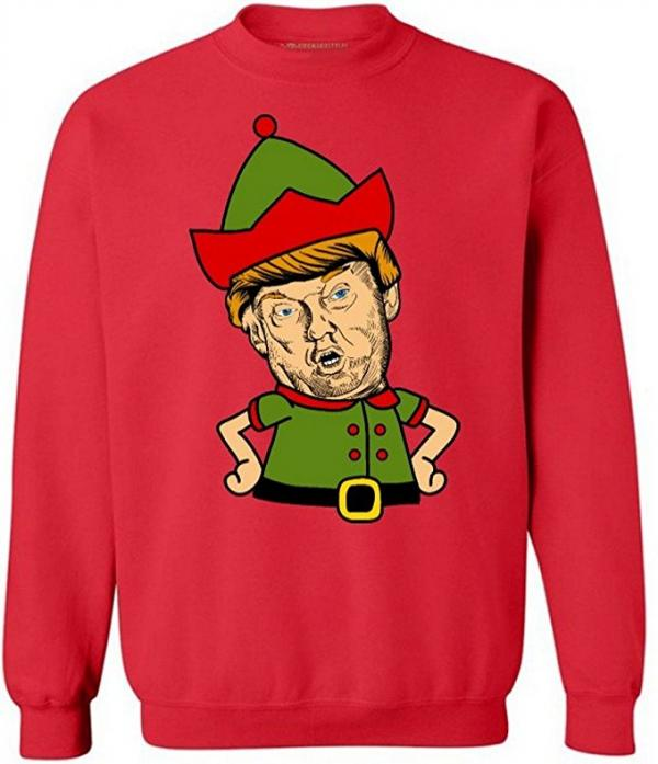 Donald Trump Elf Ugly Christmas Sweater