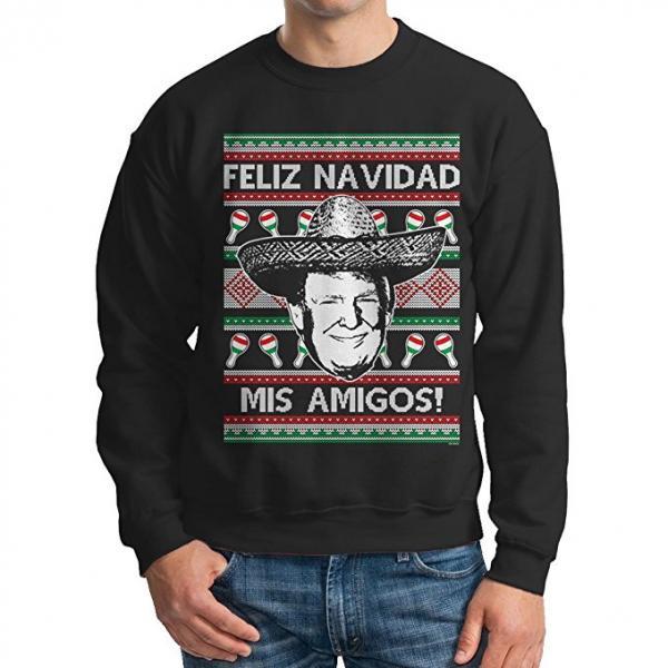 Donald Trump 'Feliz Navidad Mis Amigos' Ugly Christmas Sweater