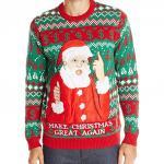 Donald Trump Santa Claus Ugly Christmas Sweater