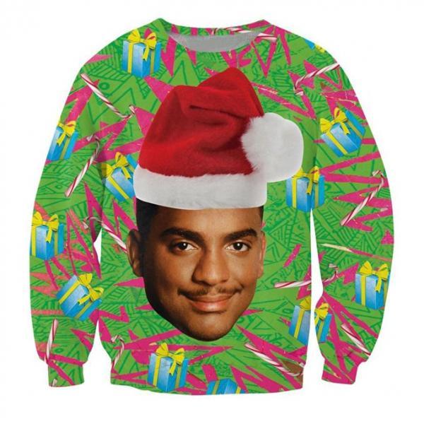 Fresh Prince of Bel-Air Carlton Ugly Christmas Sweater