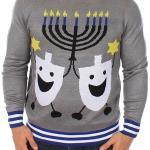 Hanukkah Dancing Dreidels Ugly Christmas Sweater