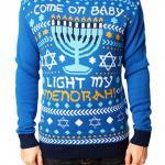 Hanukkah Light my Menorah Ugly Christmas Sweater